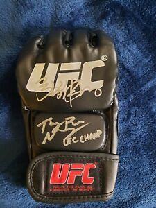 Rose Namajunas UFC Chanp & Zhang Weili Dual Signed UFC glove JSA Authentication
