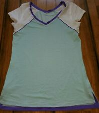 Lululemon Teal Blue Personal Best Short Sleeve Top Tee Size 6