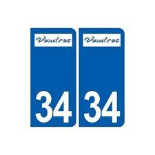 34 Vendres logo ville autocollant plaque stickers droits