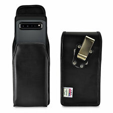 Samsung Galaxy S10 5G Vertical Holster Leather Pouch with Rotating Belt Clip