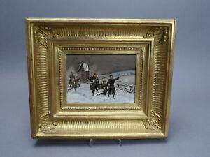 Christian Sell Schlachtenmalerei Militaria 1870/71 Preußische Infanteristen Öl