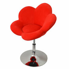 "1x tabouret de bar ""fleur rouge"" chaise longue Chaise design Chaise de bar pivot"