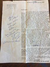 BRASSAI Lettre envoi autographe