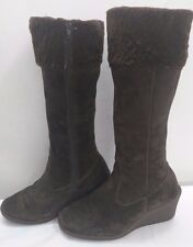 DOROTHY PERKINS ladies womens suede knee boots Size UK 6 EU 39