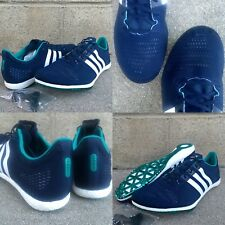 2adff11f4cdb SZ 12.5 ADIDAS ADIZERO AVANTI BOOST TRACK FIELD SHOES CLEATS NVY BLUE WHT  AF5635
