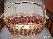 Large Wicker Basket with wrapped handle