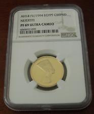 Egypt 1994 Gold 50 Pounds NGC PR69UC Nefertiti