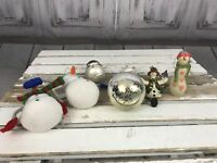 Holiday Christmas Tree 5 Set Snowman Assortment Small Decoration Ornaments