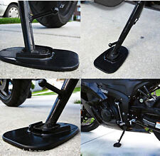 Universal Motorcycle Kickstand Pad Support for Soft Ground Outdoor Parking