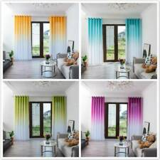 Gradient Sheer Curtain Tulle Window Treatment Voile Drape Curtain Valance DM