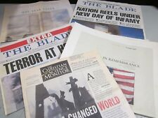 9/11 Terrorist Attacks - Newspapers - Christian Science Monitor, Toledo Blade