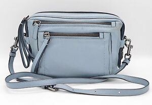 #H694 MARC by Marc Jacobs Cube Lamb Leather Messenger Bag - ICE BLUE $398