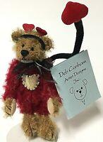 "Deb Canham Limited Miniature 4"" Mohair Teddy Bear Mummy's Little Monster"
