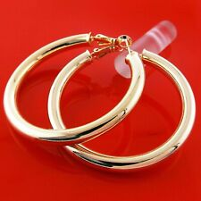 "9ct 9K Yellow ""GOLD FILLED"" Ladies Lovely LARGE HOOP EARRINGS. 50mm Gift,2228"