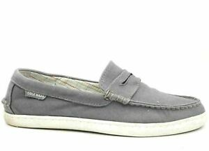 Cole Haan Grand OS Men Penny Loafers Pinch Maine Classic Size US 10M Grey Canvas