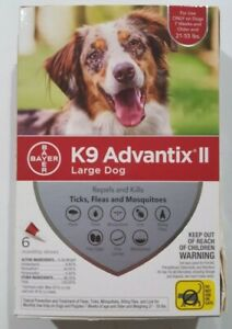 Bayer K9 Advantix II Large Dog Flea & Tick Treatment  21-55 lbs 6 Doses