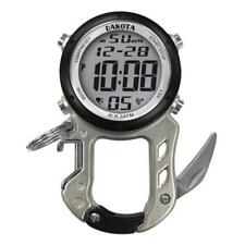 Digital Zipclip Stop Watch Light-Up Silver Carabiner Knife Dakota30981