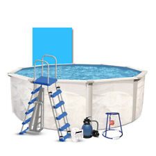 15' Complete Above Ground Pool Kit with Basketball Game Set