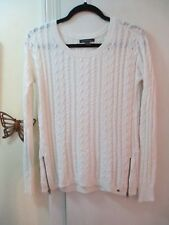American Eagle Outfitters  White Pullover L/Sleeve Sweater with Zippers - Size S