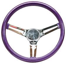 """Mooneyes Purple Metalflake Steering Wheel 13.5"""" with slots in spokes Rat Fink"""
