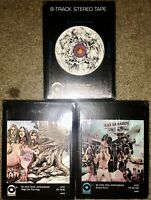 3 NEW SEALED BLACK OAK ARKANSAS 8-TRACK TAPES HIGH ON THE HOG IF AN ANGEL CAME !