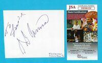 """J.D. Cannon Autographed Signed Album Page Actor """"McCloud"""" Dec. 2005 JSA COA"""