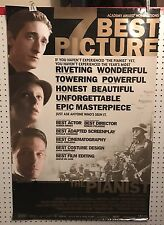 Original Movie Poster The Pianist Double Sided 27x40