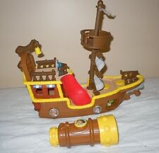 Imaginext Jake &The Neverland Pirate Ship Nonworking & Talking Telescope EUC