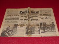 [PRESSE WW2 AVANT GUERRE] PARIS-SOIR #4338 20 AOUT 1935 Mussolini Ethiopie