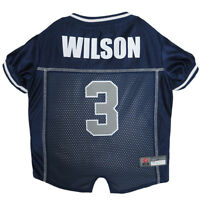 Russell Wilson Seattle Seahawks #3 Licensed NFLPA Dog Jersey Blue, Sizes XS-XL
