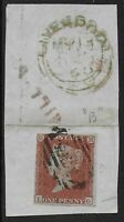 SG8. 1841 1d. 3+Margins Used On Piece With Interesting Postal Markings. Ref.0885