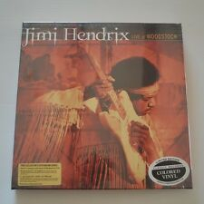 JIMI HENDRIX - LIVE AT WOODSTOCK- LTD. EDITION BOX 3LPs COLOR VINYL NEW & SEALED