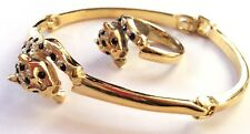 Panther Bracelet & Ring Set Duchess Art Deco Style In Quality Gift Box