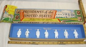MARX THE PRESIDENTS OF THE UNITED STATES FIGURES THIRD SERIES BOXED 1960s
