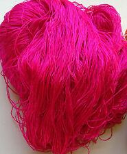 Luxury Laceweight Silk Yarn, 270g Hank. Cerise Pink, Weaving/Textiles Crafts