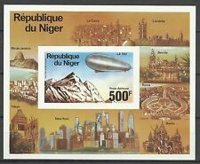 Niger Aviation Espace Ballon Dirigeable Zeppelin Space Non Dentele Imperf **1976