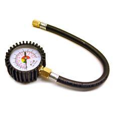 Tyre Air Pressure Gauge Dial Analog Flexi Hose Valve Car Bike Bicycle PSI Sil12