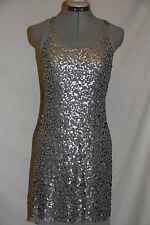 Max Studio gray/silver stretch sequins sleeveless tank dress-sz XS 0-$98-NWT