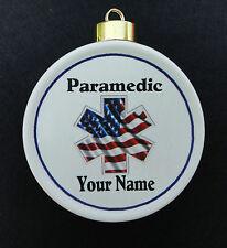 Custom EMT Ornament *Personalized* Christmas, Holiday, Paramedic, EMS, Memorial