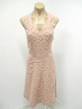 MAYLE Pink Sleeveless Lace Dress with Fabric Detail - Fully Lined  - Size 2