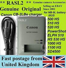Genuino Original Canon charger,cb-2lbe Nb-9l Ixus 500 520 1000 1100 Hs