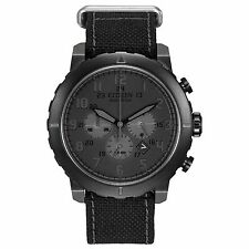 Citizen Eco-Drive Men's CA4098-06E Chronograph Black Military Style 45mm Watch