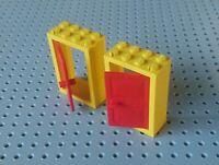 White Frame 4130 /& 4131 Lego Door Frame and Door 2x4x5 Black Door x2