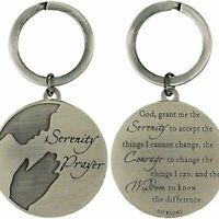 Serenity Prayer God Grant Me Courage Wisdom Bible Verse Pendant Keyring Keychain
