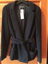 RARE Chanel 07C Navy Black Jacket NEW 44 46 Classic Blazer Collectible Tweed NWT