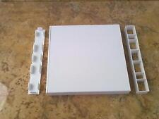 Muster 1A Kunststoff Hohlkammerprofil Balkon, Balkonverkleidung weiß 200x20x1mm