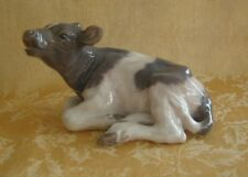 Royal Copenhagen Figurine ~ Reclining Calf Cow Figurine Knud Kyhn 1072