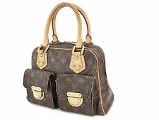 Authentic LOUIS VUITTON Manhattan PM Monogram Hand Bag Purse #24712