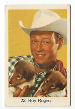 1970s Swedish Film Star Card #23 American Singer Cowboy Actor Roy Rogers