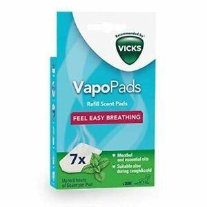 Vicks MENTHOL Vapo pads 7 x VapoPads Refill Scent Pads for Cold Blocked Nose VH7